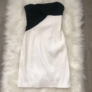 Bebe strapless color block dress